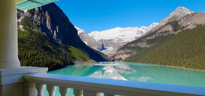 best hotel room view lake louise