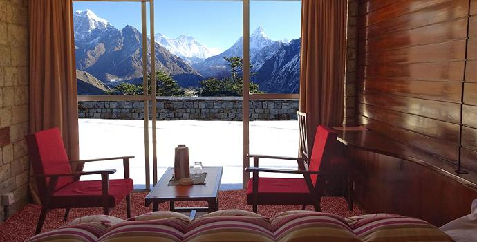 best hotel room view everest