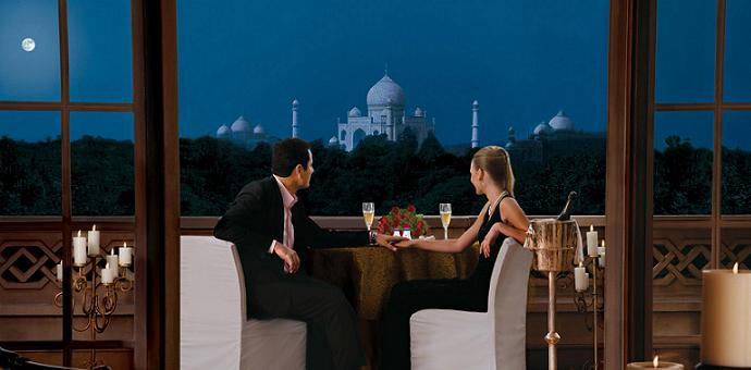 best hotel room view taj mahal