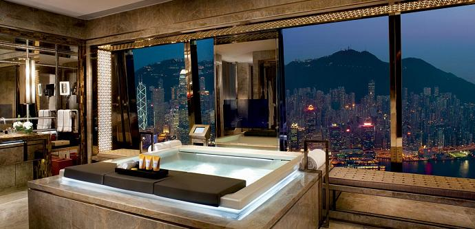 best hotel room view hong kong