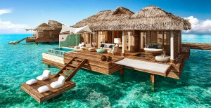 caribbean overwater villa honeymoon